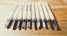 Zestaw 10 sztuk dłut do drewna (do detali) - Bardzo Ostre!