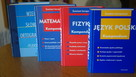 Nowe kompedia wiedzy-fizyka, matematyka,polski+słownik