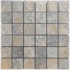 Mozaika kamienna trawertynowa szara bębnowana ash 4,8x4,8