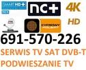 MONTAZ SERWIS TV-SAT, DVB-T,LTE, PODWIESZANIE TV 691570226