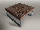 Dębowy stolik kawowy, rzeźbiony, stół w stylu loft