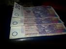 Banknoty kolekcjonerskie 20zl 5 kolejnych cyfr -20%