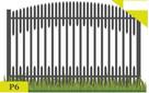 Przęsło ogrodzeniowe wzór P6 120x200cm oc+kolor