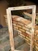 Stara okna drewniane retro loft lustro zdjęcia grill, 53x108 - 2