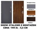 Drzwi zewnętrzne-wejściowe- metalowe POLSKIE z montażem. - 1