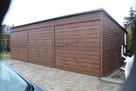 Garaż 9x6 Brama 2.50 Drewnopodobny Złoty Dąb Orzech