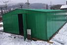 Hala garażowo-magazynowa 7x16 m dwuspadowy dach + brama - 2