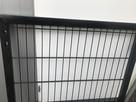 Furtka h-1m, L-1m, ocynkowana malowana Panel 2D czarna