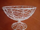 Koszyk metalowy na owoce dekoracje - 4
