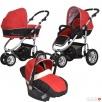 Wózek dziecięcy (3w1) - gondola, spacerówka, fotelik sam. - 1