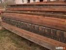 stare drewno rozbiórkowe bale deski cegła czerwona szamotowa - 1