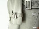 Włoski Wiosenny płaszcz typu trencz kolor beż nowy! - 2