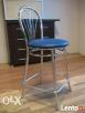 Krzesło kuchenne /barowe niebieskie chrom Grodzisk Mazowiecki