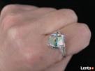 Piescionek srebrny925 duzym kryształem Svarowskiego cechy Nowy Sącz