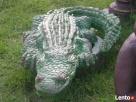 Krokodyl figurka oczko wodne fontanna rzeźba - 1