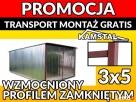 3x5 Garaż blaszany garaże blaszane wiaty WIOSENNA OBNIŻKA - 1