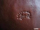 LISTONOSZKA skóra 100% FRANCINEL TOREBKA skóra naturalna Nawojowa