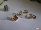 Srebrny pierścionek pierścionki z bursztynem kolczyki Nowy Sącz