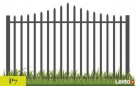 Przęsło ogrodzeniowe, elegancki wzór, nowoczesny płotek