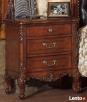 Drewniana sypialnia z pikowaną skórą Vanessa od Jacob Furnit - 4