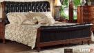 Drewniana sypialnia z pikowaną skórą Vanessa od Jacob Furnit - 5