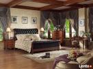 Drewniana sypialnia z pikowaną skórą Vanessa od Jacob Furnit - 1