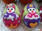 PISANKI jaja ręcznie wykonane z filcu * pisanka 12 - 4