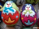 PISANKI jaja ręcznie wykonane z filcu * pisanka 12 - 7
