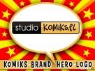 SUPER REKLAMA KOMIKSOWA, LOGO, BRAND HERO DESIGN DLA FIRM