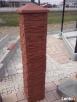 Daszek mały na słupek ogrodzeniowy z kamienia łupanego 30x30 - 3