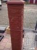 Daszek mały na słupek ogrodzeniowy z kamienia łupanego 30x30 - 2