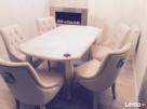 Modne krzesło pikowane z kołatką i pinezkami producent - 3