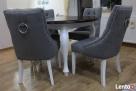 Krzesło pikowane z pinezkami i kołatką producent glamour - 3