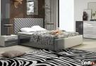 Piękne łoże tapicerowane 140 z eco skóry pojemnik i stelaż - 2
