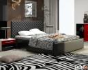 Piękne łoże tapicerowane 140 z eco skóry pojemnik i stelaż - 1
