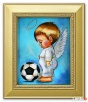 chłopczyk z piłką aniołek obraz prezent na komunię chrzciny Limanowa