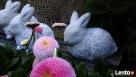 Dekoracja ozdoba do ogrodu-Figurka ogrodowa zajączek - 4