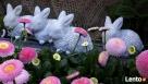 Dekoracja ozdoba do ogrodu-Figurka ogrodowa zajączek - 7
