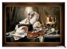duży obraz olejny martwa natura 75 x 105 cm Limanowa
