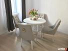 Krzesło z kołatka pikowane z pinezkami eleganckie modne nowe - 5