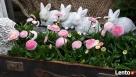 Dekoracja ozdoba do ogrodu-Figurka ogrodowa zajączek - 8