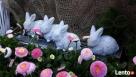 Dekoracja ozdoba do ogrodu-Figurka ogrodowa zajączek - 5