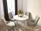 Krzesło z kołatka pikowane z pinezkami eleganckie modne nowe - 1