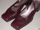 Skórzane buty wiosenne Burgund 36,5 37 - 6