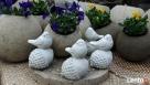 Ptaszek na żołędziu figurka betonowa do ogrodu - 1