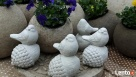Ptaszek na żołędziu figurka betonowa do ogrodu - 4