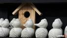 Ptaszek na żołędziu figurka betonowa do ogrodu - 3