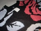 H&M sweter ŻAKARD Gruby Róże NOWY M L XL - 5