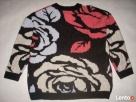 H&M sweter ŻAKARD Gruby Róże NOWY M L XL - 4