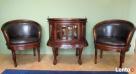 stylowy komplet do domu gabinetu biura barek + 2 fotele Limanowa
